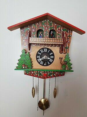 Vintage German Black Forest Chalet Clock with weather station- 8 days movement