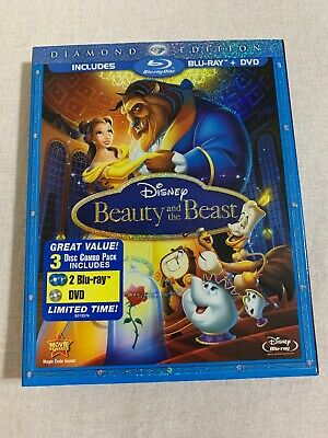 Beauty and the Beast (Blu-ray/DVD, 2010, 2-Disc Set, Diamond Edition) authentic