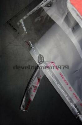 100X 2/'/'-22/'/' Resealable Opp Plastic Self Adhesive Seal Bag With Tracking number