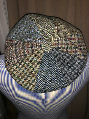 691337f6e GLENAPPIN OF SCOTLAND ASNEW all different patchwork wool tweeds Newsboy cap  hat