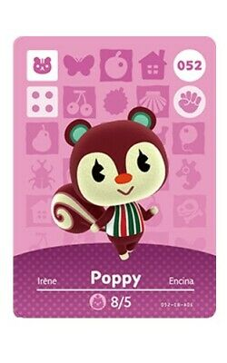 Animal Crossing Amiibo Card (New Leaf/Happy Home Designer) - 052 Poppy