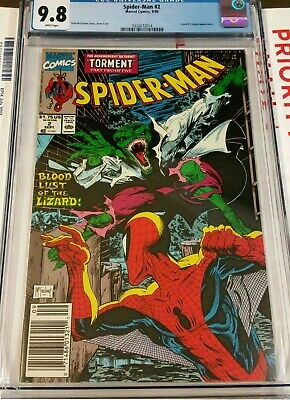 Spider Man #2 Cgc 9.8 Bar Code Newsstand Todd Mcfarlane Art 1990 Lizard Appears