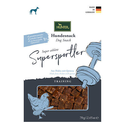 Hunter Hundesnack Training Supersportler 70 g, UVP 3,99 EUR, NEU