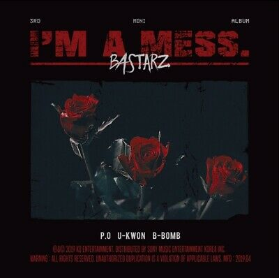 BASTARZ Block B 3rd Mini Album [I'm a mess.] CD+Photographs+Card+Lyrics+Sticker