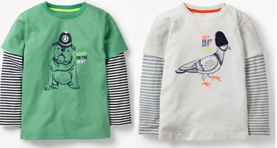 Mini Boden boys top 2 3 4 5 6 7 8 9 10 11 12 years british animal NEW RRP $30