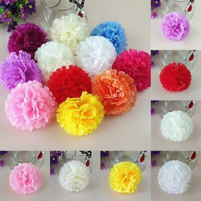 8689403c5b2fe MOTHERS DAY GIFT 10Pcs Artificial Flower Silk Gradient Carnation ...