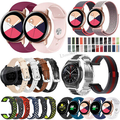 Leather Nylon Silicone Watch Band Strap for Samsung Galaxy 42 46MM Gear S3 SPORT
