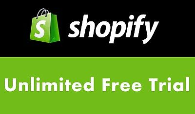 Shopify UNLIMITED Trial with All features and Apps- Top Seller - See Feedbacks