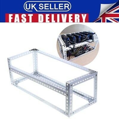 Steel Open Air Mining Frame Rig Case up to 6 GPU's ETH BTC Ethereum Crypto Coin