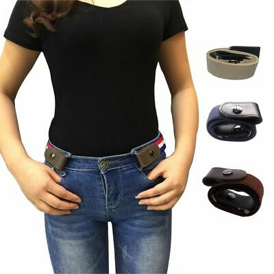 Unisex Buckle-Free Elastic Adjustable Invisible Belt For Jean Pants Dress