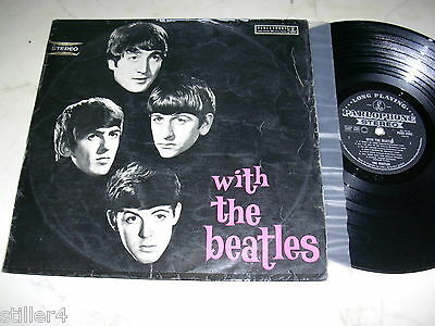 The Beatles With Megarare 1st Press Plateado / Black Parlophone Vinilo