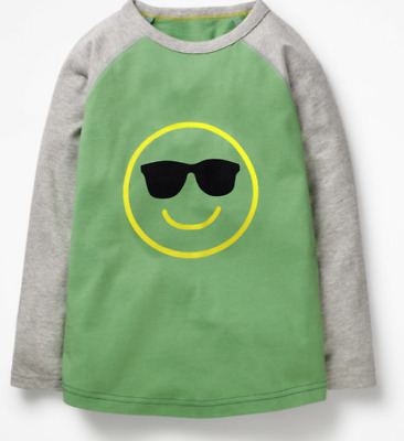 Mini Boden boys top 5 6 7 8 9 10 11 12 13 14 years smiley face NEW RRP $30