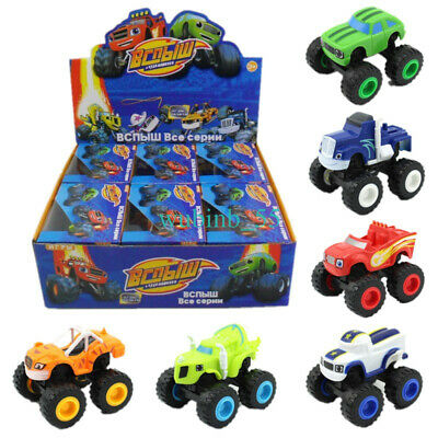 6x Blaze and the Monster Machines Vehicles Toy Racer Car Truck Kids Gift + Box