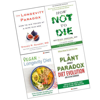 How Not To Die: Discover Longevity Paradox Plant Anomaly 4 Books Collection Set