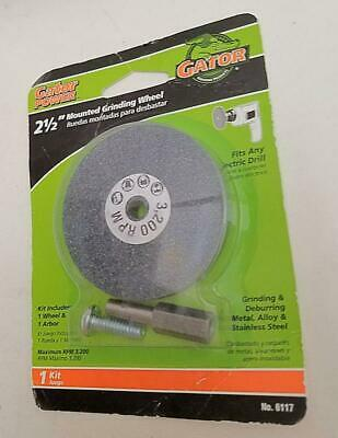 "Grinding Disc 0.5 "" Thck Fits Any Electric Drill. Gator Power. 6117.2 1/2"" NEW"