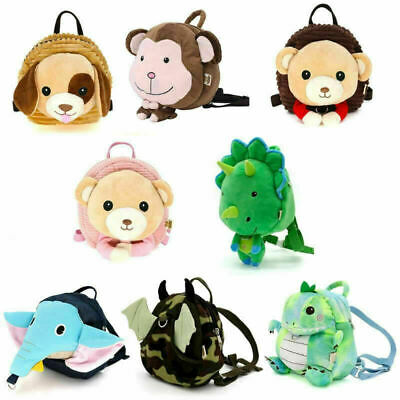 Cartoon Kids Safety Harness Backpack Leash Toddler Baby Anti-lost Animal Bag