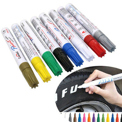 Car Paint Marker Scratch Permanent Repair Tire Pen Tyres Number Stick Pen