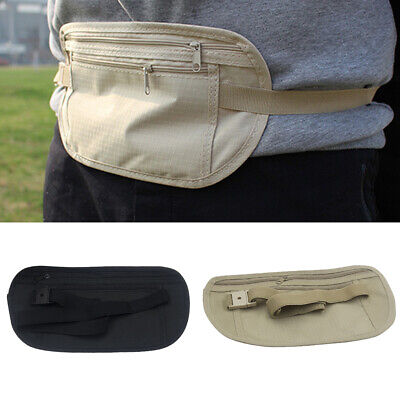 Outdoor Waist Belt Bag Travel Anti-theft Invisible Phone Passport Cash Pouch NEW