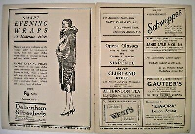 PRINCES THEATRE PROGRAMME - Dated 1925