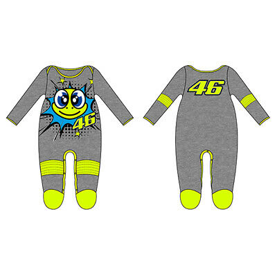 VR46 BABY GROW SUIT OVERALL Pop Art Grey Official Valentino Rossi Merchandise