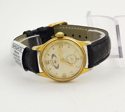 1950's Vintage RARE Saturn gold plated mechanical men's wristwatch with day