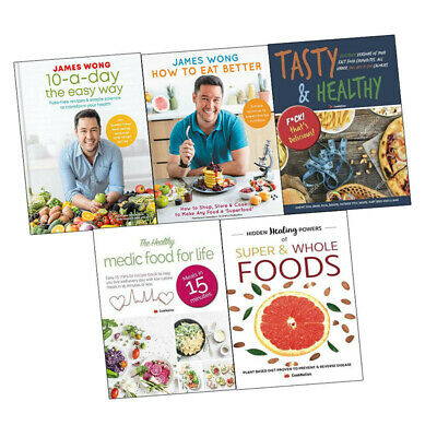 James wong 10-a-Day the Easy Way , How to Eat Better 5 Books Collection Set