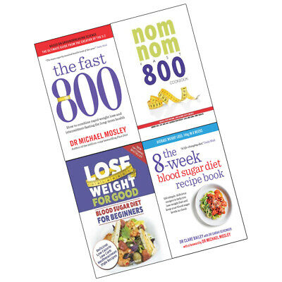 Fast 800,8-week Blood Sugar Diet Recipe,Lose Weight For 4 Books Collection Set