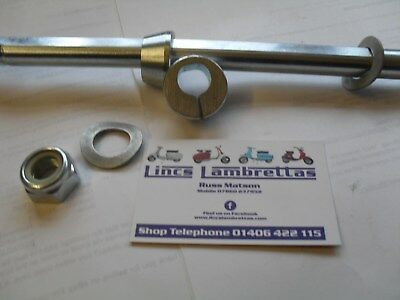 Casa lambretta flat sided engine bar with offset cones.