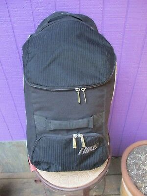 Nike Travel Gear Luggage Carry On Bag Black Suitcase