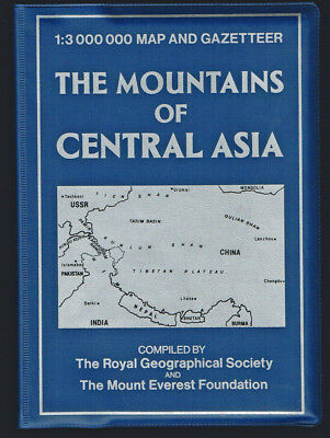 Royal Geographical Society / Mountains of Central Asia 13000000 Map 1st ed 1987