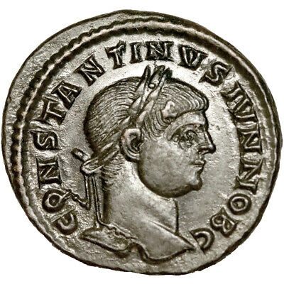 Constantine II. Ae follis. Arelate mint. 337-340 A.D.  Extremely Fine. .  8766