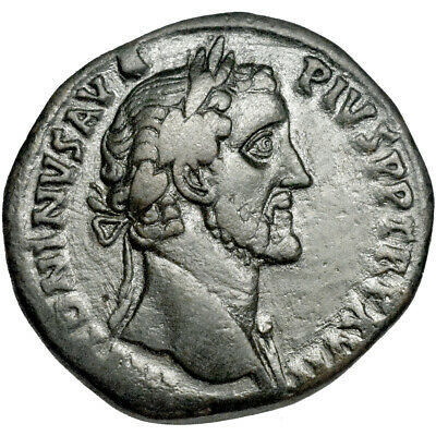 Antoninus Pius. Ae sestertius. .   .  8814. Good Very fine.