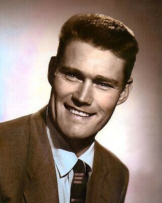 """Kevin Joseph Chuck Connors Hollywood Movie Star 8X10"""" Hand Color Tinted Photo"""