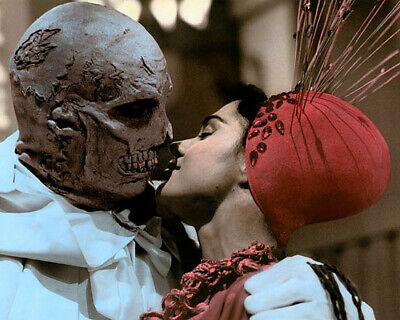 """VINCENT PRICE VIRGINIA NORTH ADOMINABLE DR PHIBES 4x6"""" HAND COLOR TINTED PHOTO"""