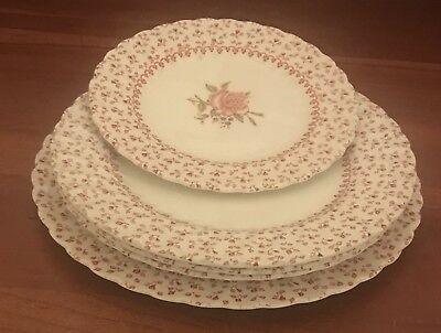 Johnson Brothers ROSE BOUQUET 1 Bread and Butter, 1 Luncheon,and 3 Salad Plates