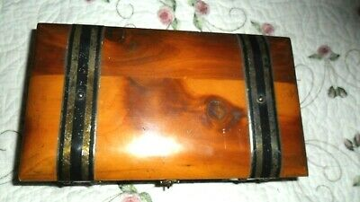vintage CEDAR DOVETAILED  BAND BOX -Jewelry/Document/Stash -Reduce shipping