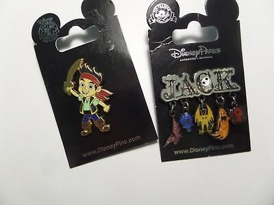 Disney Pin Binu1 Lot Of 2   Jack The Pirate Or Ghost