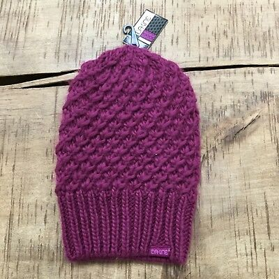 5482f5f17a7f9 DaKine Ladies New Winter Cable Knit Hat Kate Slouch Beanie Boysenberry  Womens