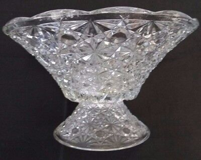 Stunning Very Large Vintage Cut Glass Bowl - 70's / 80's 1.6kg