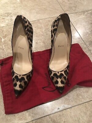 2c1d714714e9 AUTHENTIC CHRISTIAN LOUBOUTIN So Kate Pumps 120 LEOPARD/ Black Size ...