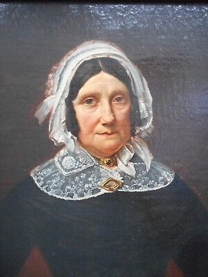 Impressive c 1850 19th Century French Portrait Painting Woman With Letter