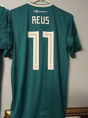 "21933889dd8 2018 2019 ADIDAS GERMANY Away World Cup Soccer ""Reus 11"" Jersey LRG ..."