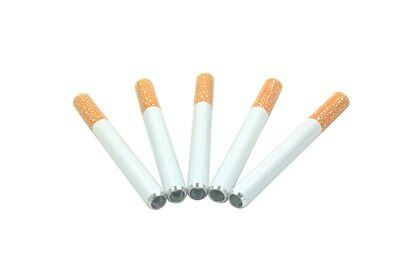 5X Metal Bat Cigarette Style Pipe | 2 1/4 Inch | One Hitter Dugout | USA SELLER