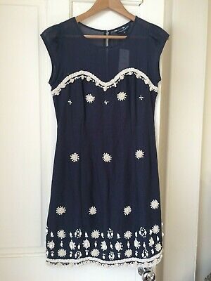 8d3f3ef4e9ee EMBROIDERED SUMMER FRENCH Connection Dress - $6.52 | PicClick