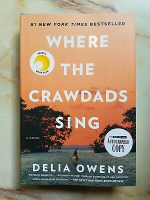 Where The Crawdads Sing Hardcover Novel Delia Owens Autographed Copy Signed