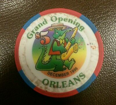 $5 Grand Opening The Orleans  Casino 1996 Poker Chip