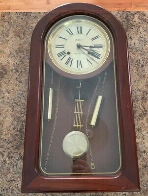 Waltham 31 Day Chiming Wall Clock Wind Up With Key
