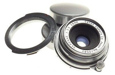 Canon Serenar 35mm wide angle 1:3.5 f=28 mm Pancake type lens fits Leica camera