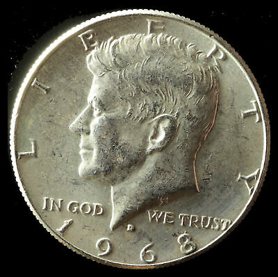 1968-D Kennedy 40% Silver Clad Half Dollar Ships Free. Buy 5 for $2 off