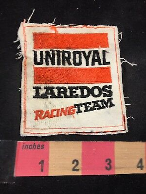 Vtg As-Is Condition UNIROYAL TIRES LAREDOS RACING TEAM Car Race Patch 80NT